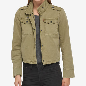 Levi's® Faded Utility Jacket - Jackets - Women - Macy's