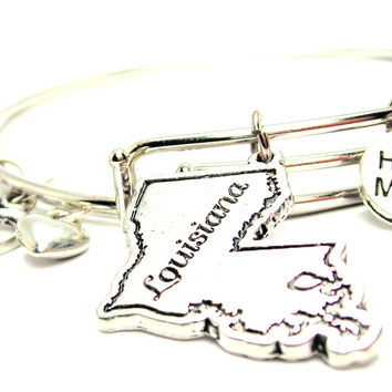 Louisiana Expandable Bangle Bracelet Set