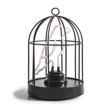 So into this design on Fab! Neon Bird in a Cage Lamp #FabForAll