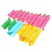 Fashionable 18 x Instant DIY Perm Forming Circle Spiral Hair Curler Roller with a Magic Leverag Hairstyling Item
