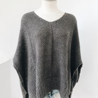 EMI FLOW SWEATER- CHARCOAL
