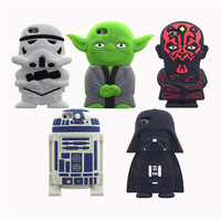 Cute 3D Star Wars Soft  Case For iPhone Vader Trooper R2D2 Sith Yoda