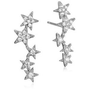 Tai Jewelry Earrings | 5 Star Silver Earrings