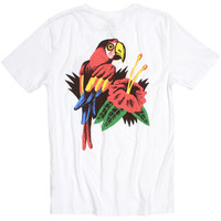 Parrot Illustrated T-shirt. Design by Luke Pelletier. (Small Parrot on front & Large Parrot on back)