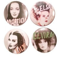 The Pulp Girls — QUEENS OF THE NIGHT BUTTONS