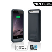 Naztech Apple MFi Power Case with Kickstand for iPhone 6 - Black