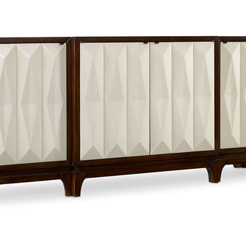 "Traviata 78"" Credenza, Brown/Cream, Buffets & Sideboards"