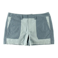 Tommy Hilfiger Womens Chambray Colorblock Casual Shorts