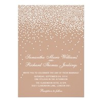 Modern Sparkly Champagne Glitter Effect Wedding