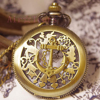 Wizard of Oz-Retro Victorian Boat hooks Pocket Watch Necklace Chain D017
