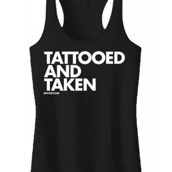 Women's Tattooed and Taken Tank Top - Black