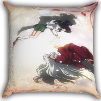 Anime Inuyasha Zippered Pillows  Covers 16x16, 18x18, 20x20 Inches