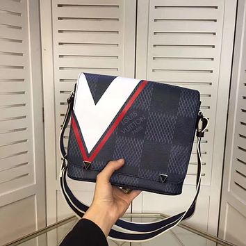 LV Louis Vuitton MEN'S NEW LEATHER CROSS BODY BAG