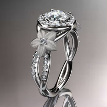 14kt white gold diamond leaf and vine wedding ring,engagement ring,...... [pr047] - $0.99 : Lowest price, Supply all kinds of cheap fasion jewelry at Cost21.com