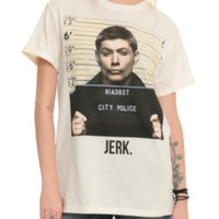 Supernatural Dean Jerk Mugshot Cuff Girls T-Shirt
