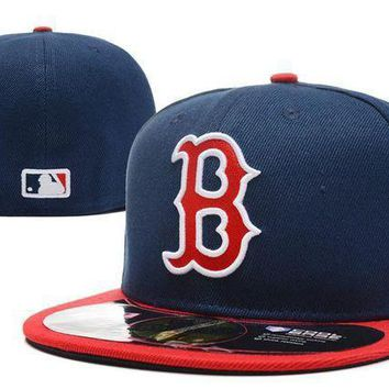 Boston Red Sox New Era Mlb Authentic Collection 59fifty Hat Blue Red