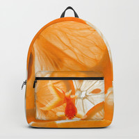 Orange Fish Backpacks by Azima