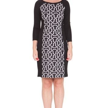 Women's Olian Graphic Print Maternity Dress,