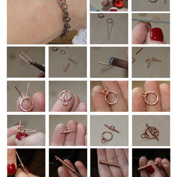 free TUTORIAL - copper bracelet DIY bracelet