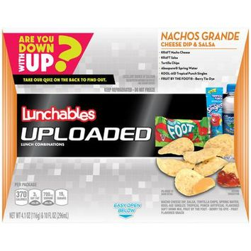 Oscar Mayer Lunchables Uploaded Nachos Grande Cheese Dip & Salsa, 4.1 oz - Walmart.com