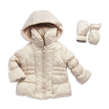 London Fog Girls 2-6x Flower Puffer Jacket