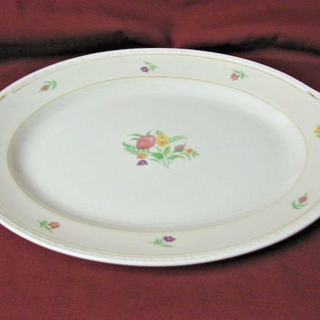 Vintage Homer Laughlin China Dinnerware Eggshell Georgian, Chintz Small  Platter