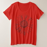 Vintage Sunflower Design Plus Size T-Shirt