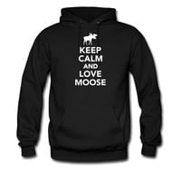 Keep calm and love Moose hoodie sweatshirt tshirt