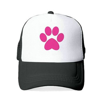 Trendy Winter Jacket Unisex Paw Trucker Hat Home Is Where Dog Is Baseketball Caps Rescue Mom Heartbeat Line Snapback Hats Hand Paw Mesh Caps YY403 AT_92_12