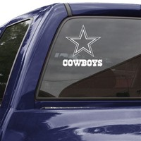 "Dallas Cowboys 8"" White Logo Decal"