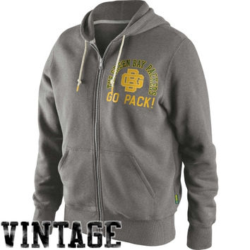 Nike Green Bay Packers Retro Full Zip Hoodie - Ash