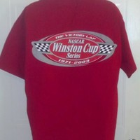 NASCAR The Victory Lap Winston Cup Series 1971-2003 Red Large T-Shirt NWOT