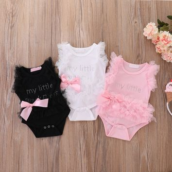 8496fc7a4 New Born 1 Year Kids Girl Baby Birthday Dress Romper Jumpsuit Bo