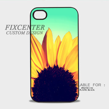 Sunflower Plastic Cases for iPhone 4,4S, iPhone 5,5S, iPhone 5C, iPhone 6, iPhone 6 Plus, iPod 4, iPod 5, Samsung Galaxy Note 3, Galaxy S3, Galaxy S4, Galaxy S5, Galaxy S6, HTC One (M7), HTC One X, BlackBerry Z10 phone case design