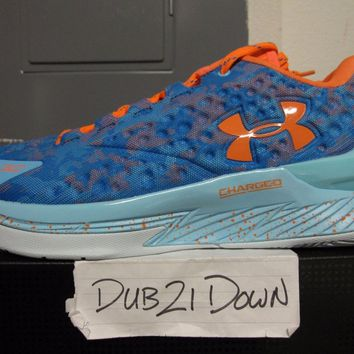 Brand New DS Under Armour UA Curry 1 Low Elite 24 Electric Blue size 9.5