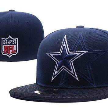 Dallas Cowboys New Era 59fifty Nfl Football Hat Blue White