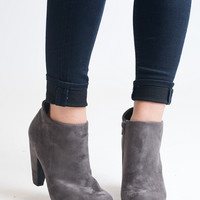 Suede Your Decision Grey Suede Booties