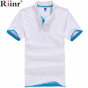 Riinr New 2017 Men's Brand Polo Shirt For Men Designer Polos Men Cotton Short Sleeve shirt Brands Jerseys Golftennis Casual Polo