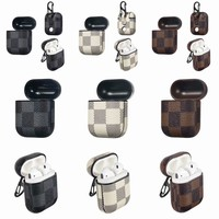 Leather Grid pattern Case for AirPods1&2