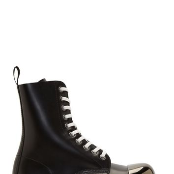 Dr. Martens Black Leather Steel Toe Grasp Boots