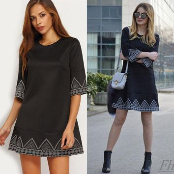 ca DCCKTM4 Fall Style Short Sleeve One Piece Dress [8906173063]