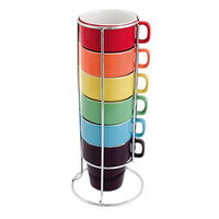 Rainbow Cappuccino Cup Tower Set