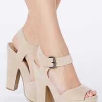 Missguided - Augustina Cream Platform Sandals