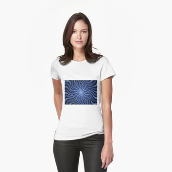 'Blue Energy Fractal Art' T-Shirt by gabiwArt