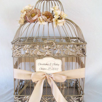 Shop Wedding Birdcage Card Holder on Wanelo