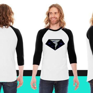 Vortex American Apparel Unisex 3/4 Sleeve T-Shirt