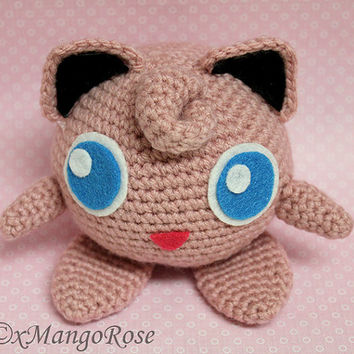 Amigurumi Jigglypuff Pokemon Plush Toy