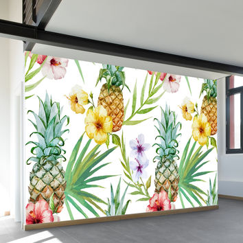 Pineapple Paradise Wall Mural