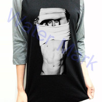 Tom Hiddleston Shirtless Naked Unisex Men Women Black Long Sleeve Baseball Shirt Tshirt Jersey