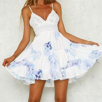 Audrey Blue Detailed Dress
